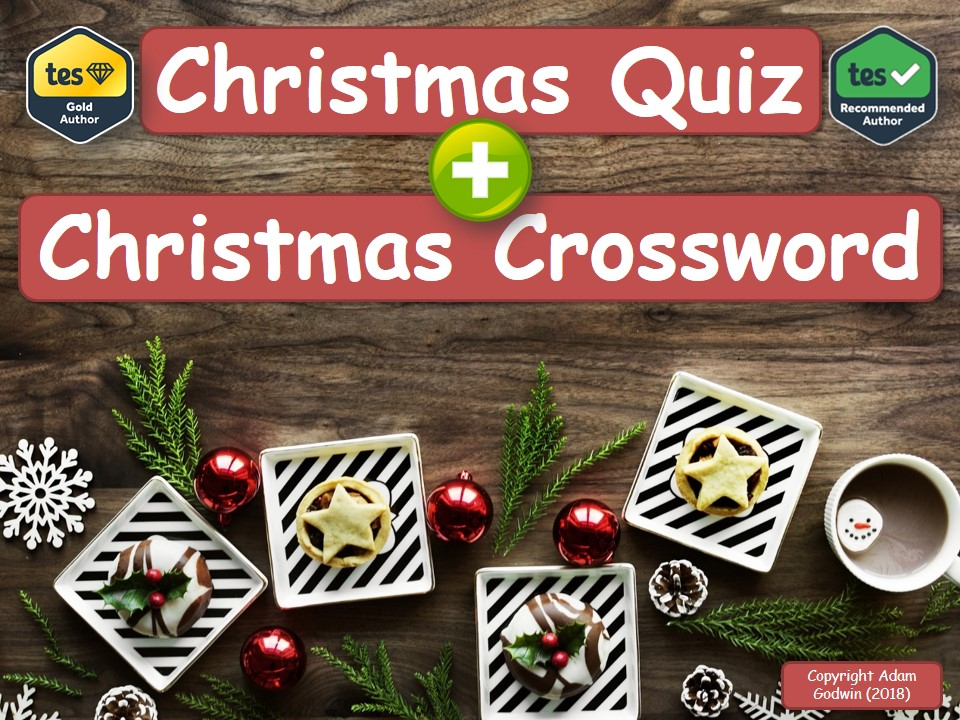 Food & Nutrition Christmas Quiz & Crossword Pack!
