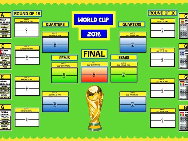 2018 WORLD CUP WALL DISPLAY