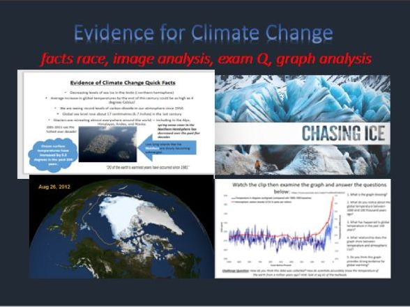 Geography, evidence for man made climate change