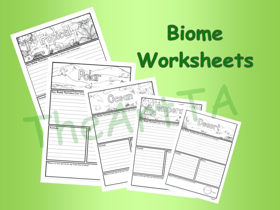 Biome/Habitat Worksheets