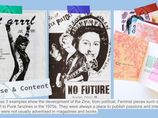 A Level Art / Graphic Zines