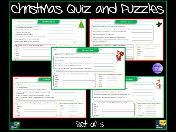 Printable Paper-Based Christmas Quizzes and Puzzles