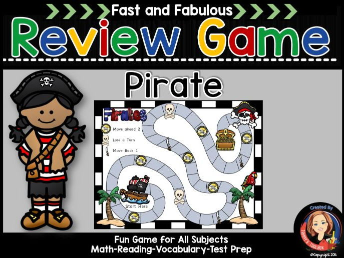 Pirate Theme Fact Review Game for Any Subject