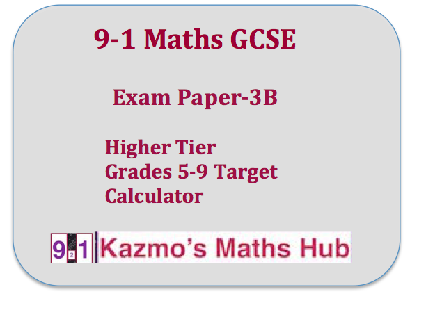 9-1 Maths Exam Paper -3B