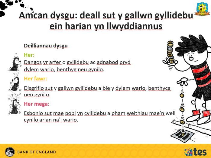 Lesson 9 Money and me - Managing my money (Welsh curriculum & language)