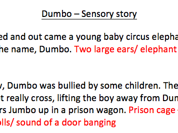 Dumbo sensory story