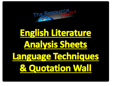 Literature Analysis Sheets Language Techniques & Wall