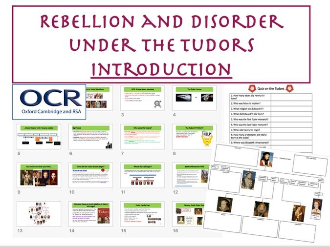 OCR Tudor Rebellions Introduction