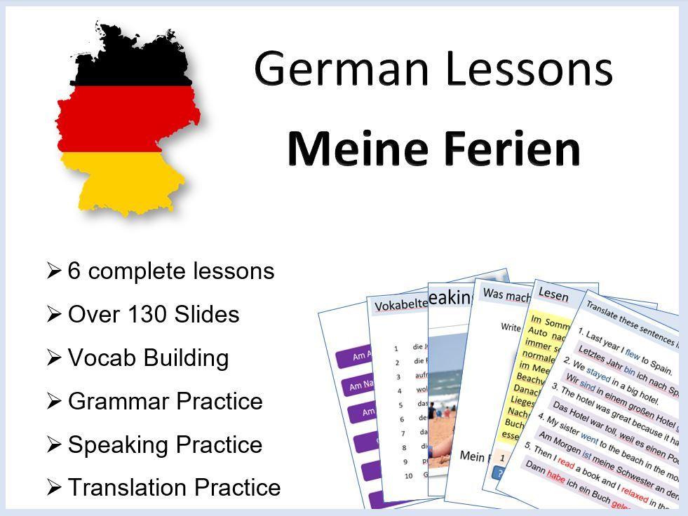 German lessons - Meine Ferien - 6 Complete Lessons: Holidays / Das Perfekt
