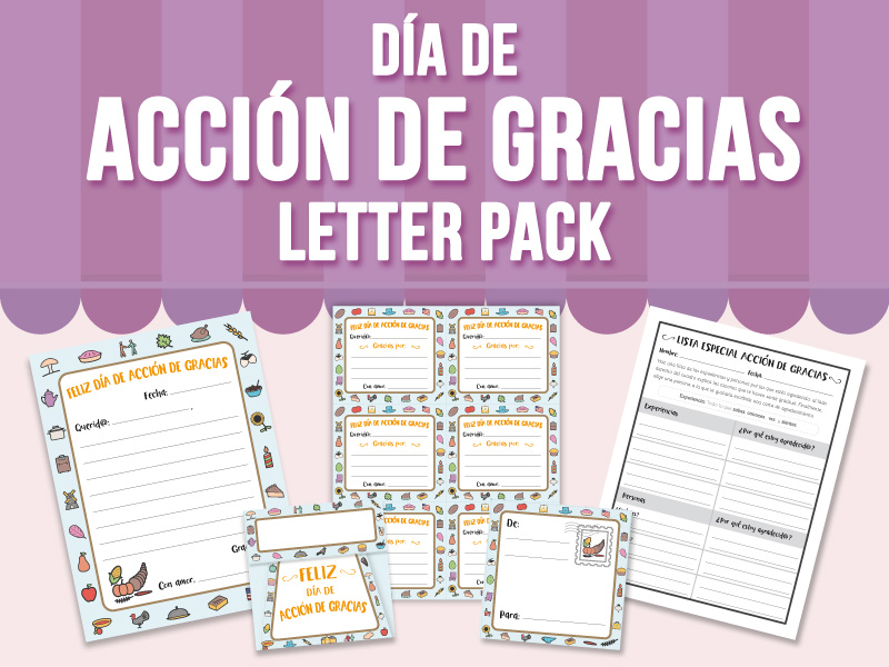 Día de Acción de Gracias Letter Pack