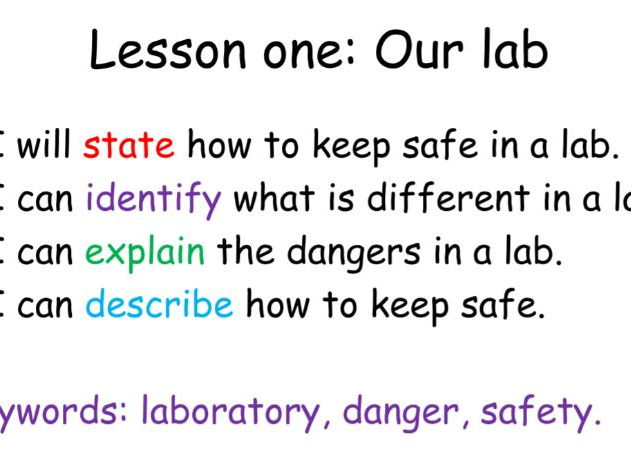Introduction to science. Rules. Lesson one