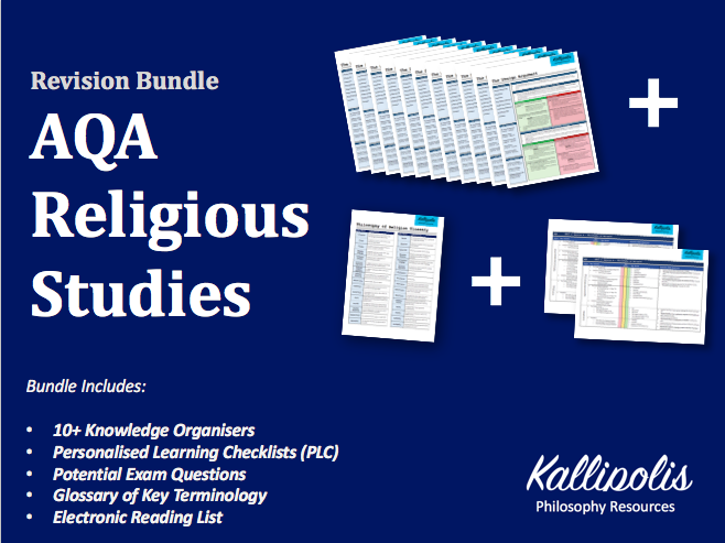 AQA Religious Studies KS5 Knowledge Organisers - Unit 1 Religion & Ethics Bundle