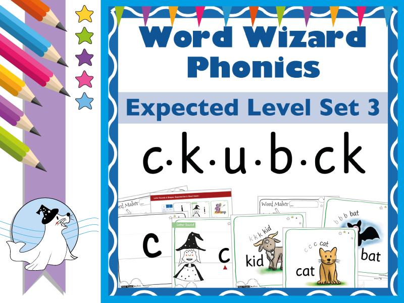 Word Wizard Phonics Expected Set 3: c.k.u.b.ck