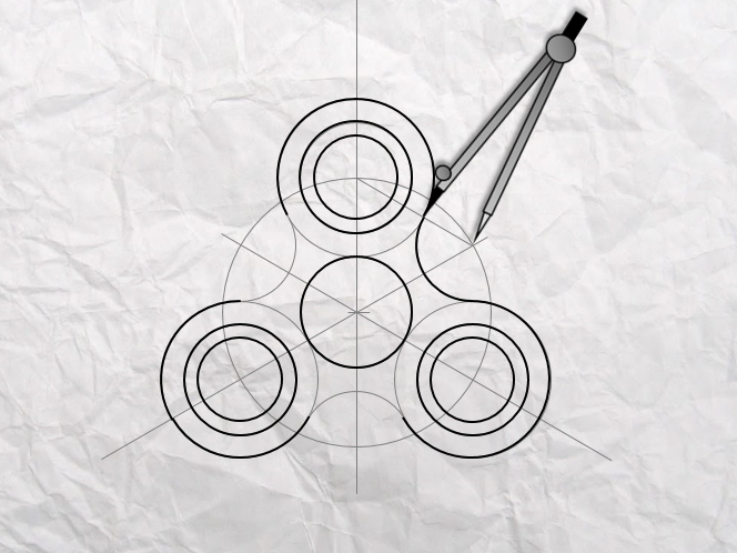 Fidget Spinner - Tangents Drawing