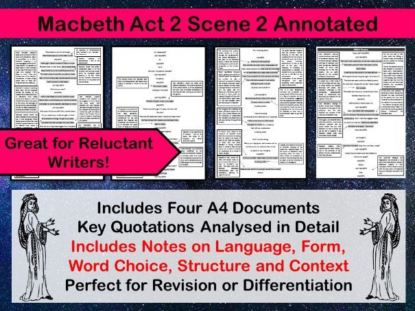 Macbeth Act 2 Scene 2 Annotated