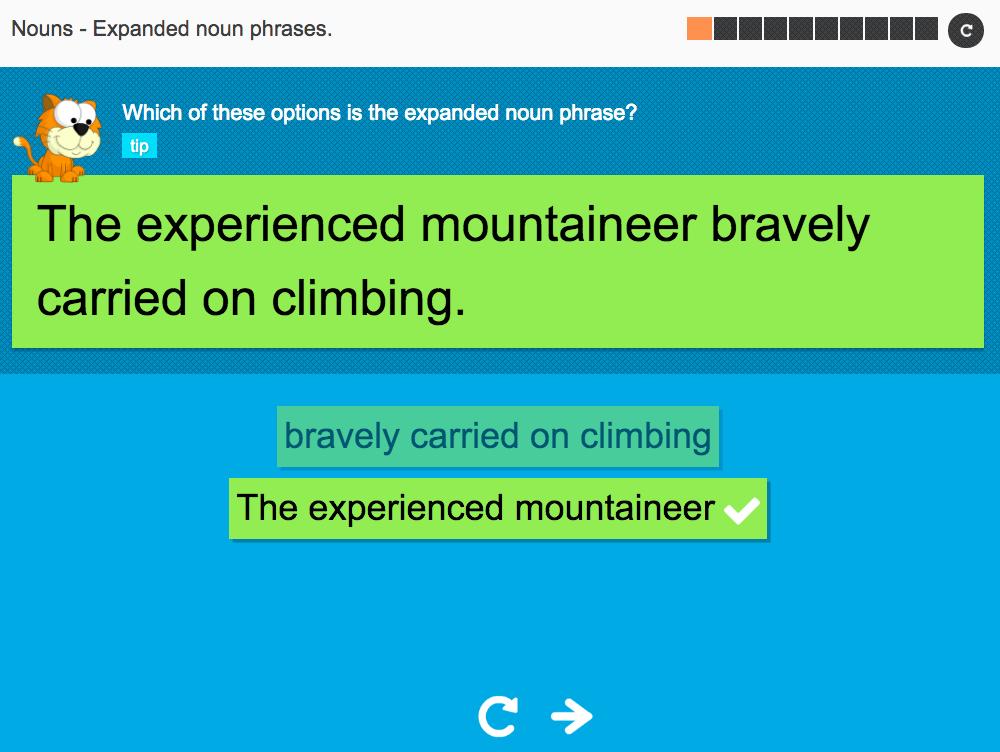 Expanded noun phrases - Interactive Activity - KS3 Spag