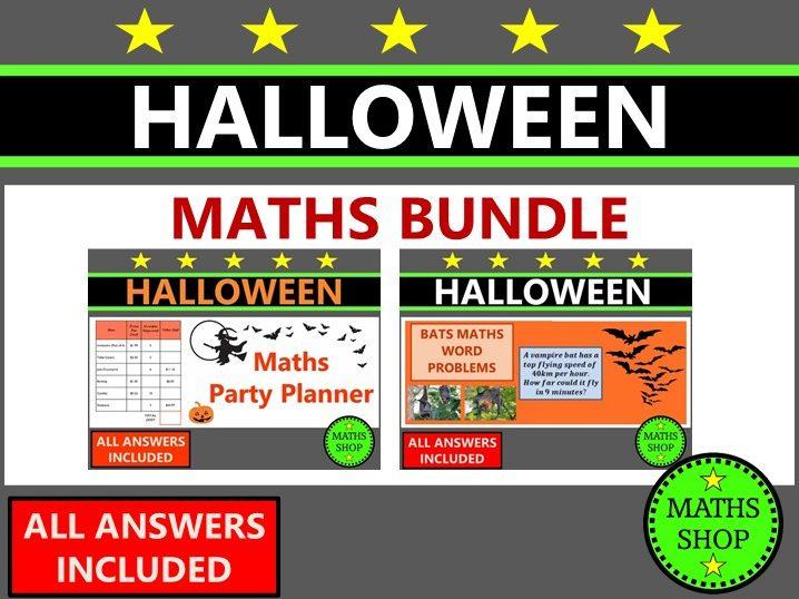 Halloween Maths Word Problems