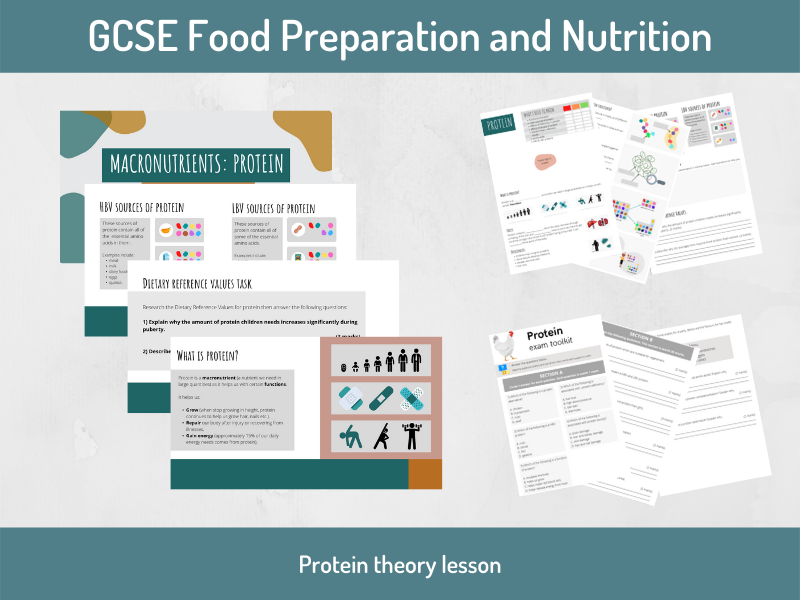 Protein theory lesson (GCSE Food Preparation and Nutrition)