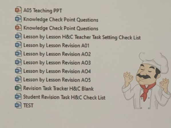 WJEC Hospitality and Catering Level 1/2 Revision Resources - Lesson by Lesson (x12 Resources)
