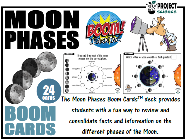 Moon Phases Boom Cards™ - Distance Learning
