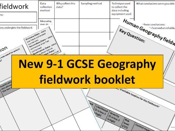 New 9-1 GCSE Geography fieldwork booklet