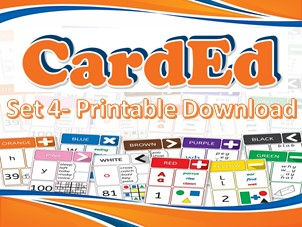 CardEd Activity Cards Set 4 (Printable PDF: 6/Page)