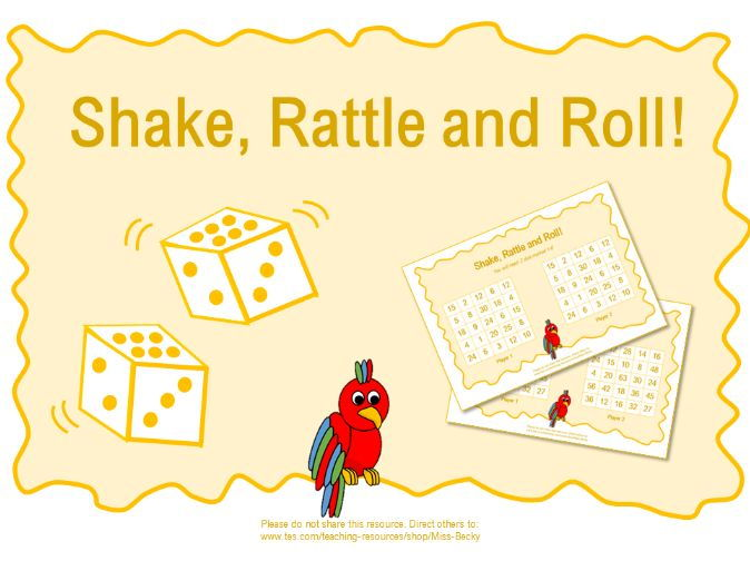 Shake, Rattle and Roll! (Times Tables Game)