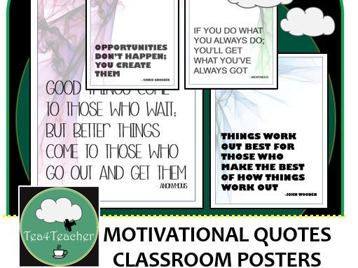 Motivational Quote Posters Colour x50 - Great Range of Motivational Thoughts