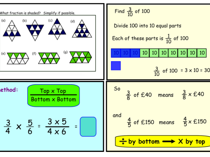 Multiply using fractions (notebook)