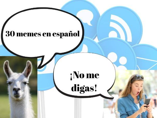 30 Spanish Memes PowerPoint