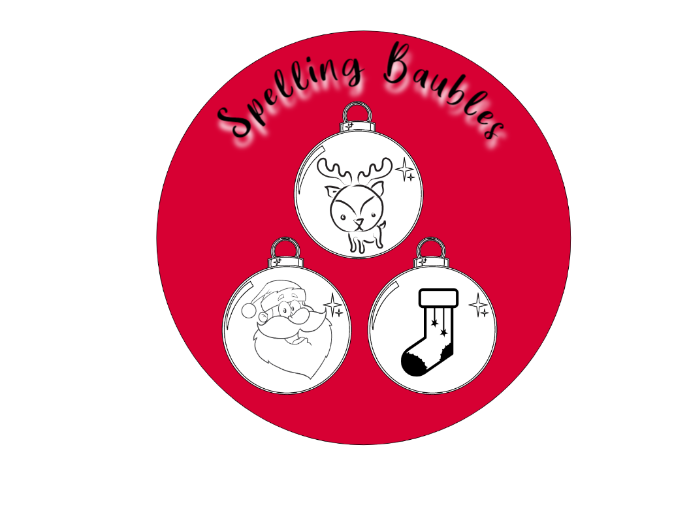 Christmas Spelling Baubles