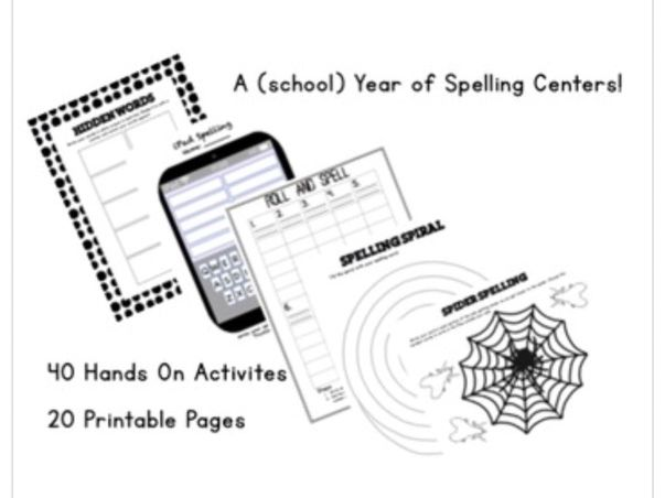 A Year of Spellng Centers