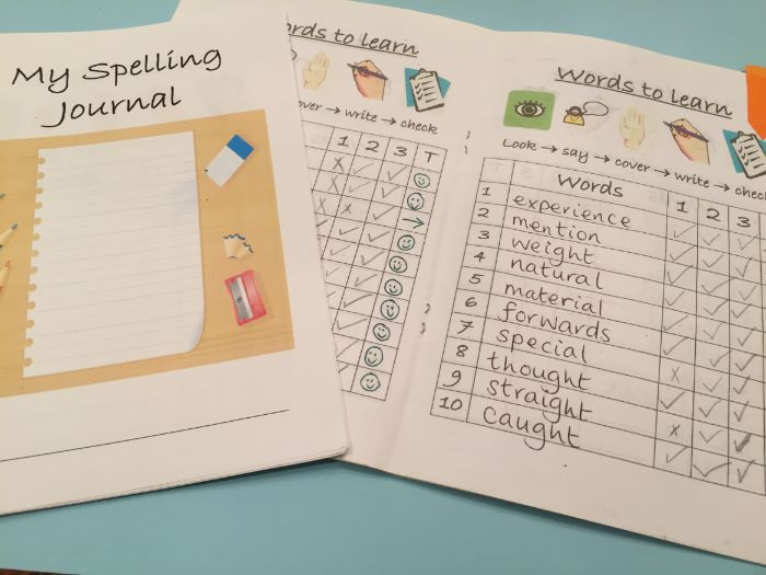 Spelling Journal 5 or 10 words Look Say Cover Write Check