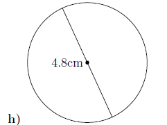 Circumference and area of a circle worksheet (with solutions)