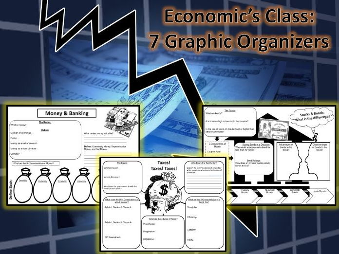 "U.S. Economics ""7 Graphic Organizers"" Bundle"