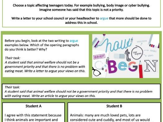 Home learning booklet - writing for purpose
