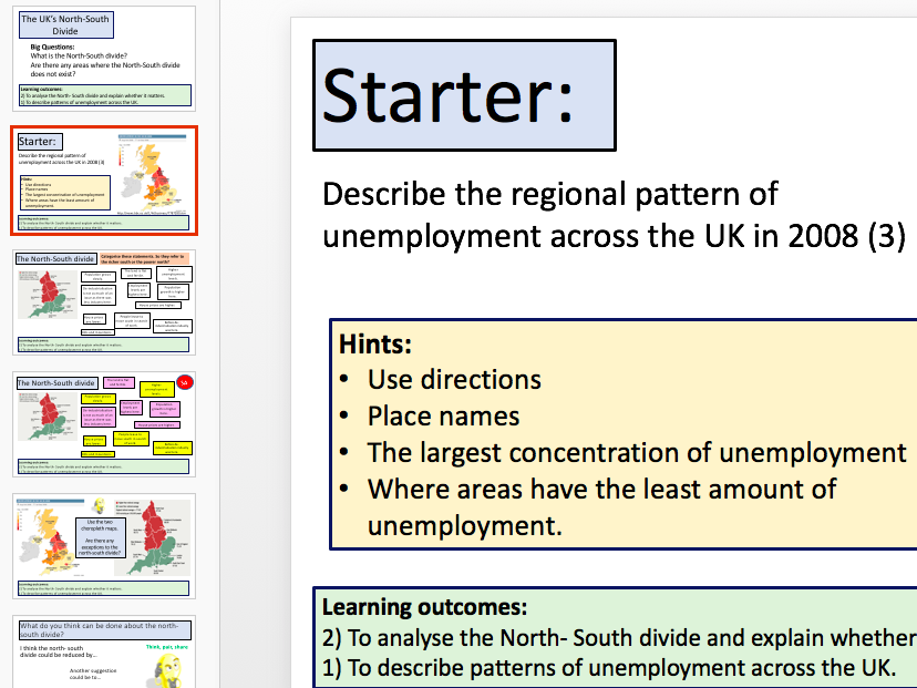 3 Lessons - Economic Change in the UK (AQA 9-1)