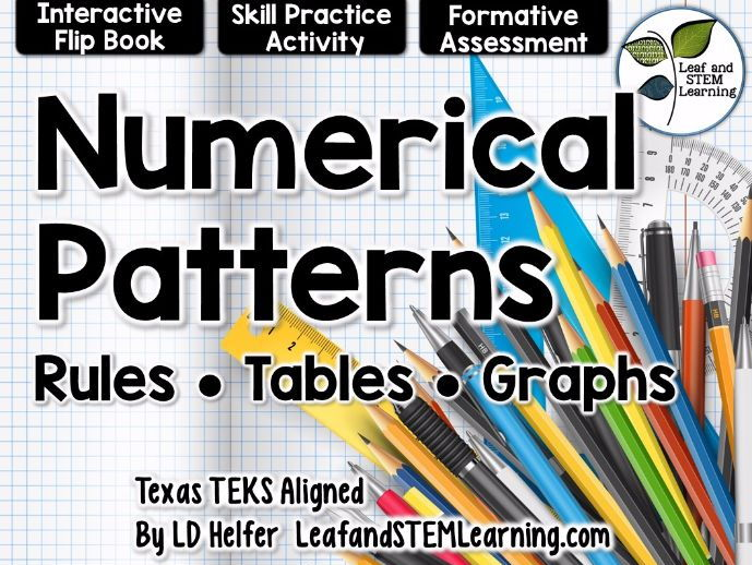 Numerical Patterns Interactive Notebook Set