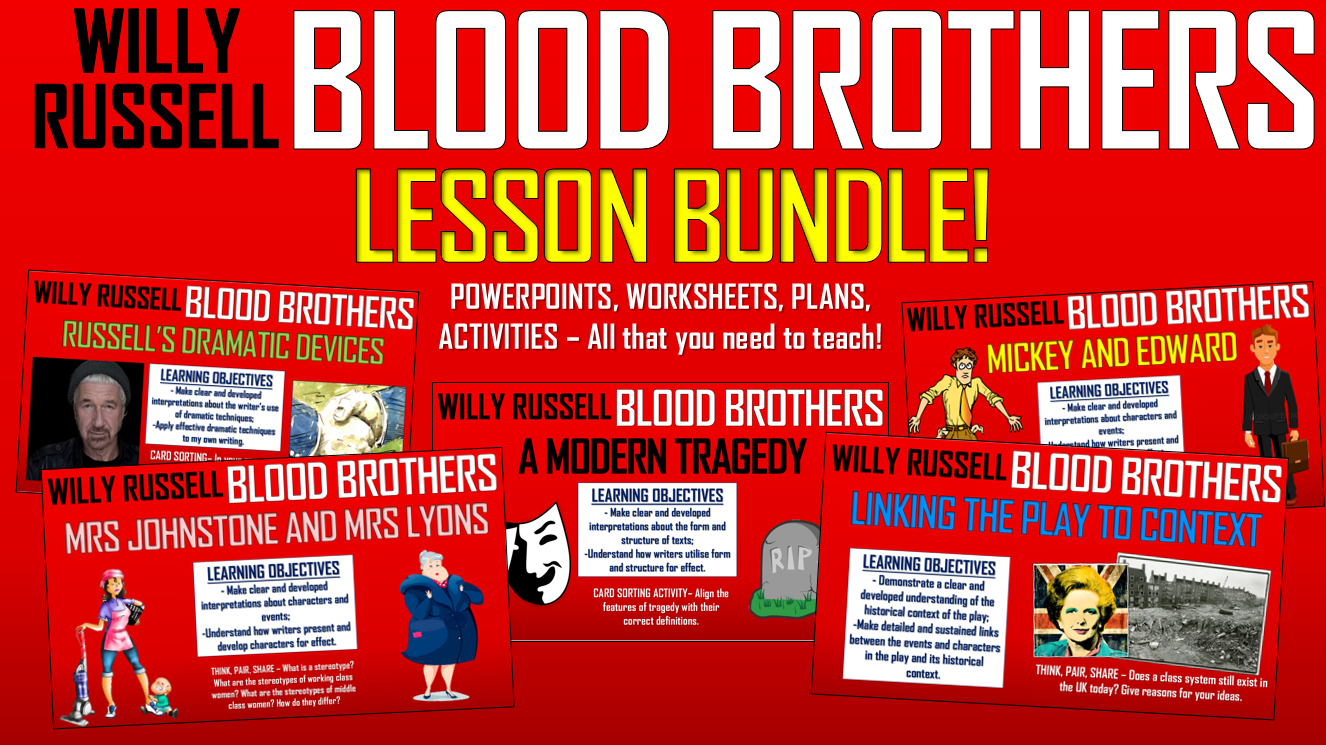 Blood Brothers Lesson Bundle!