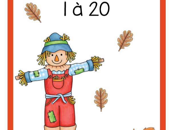 Dénombrement 1 à 20 (Automne)