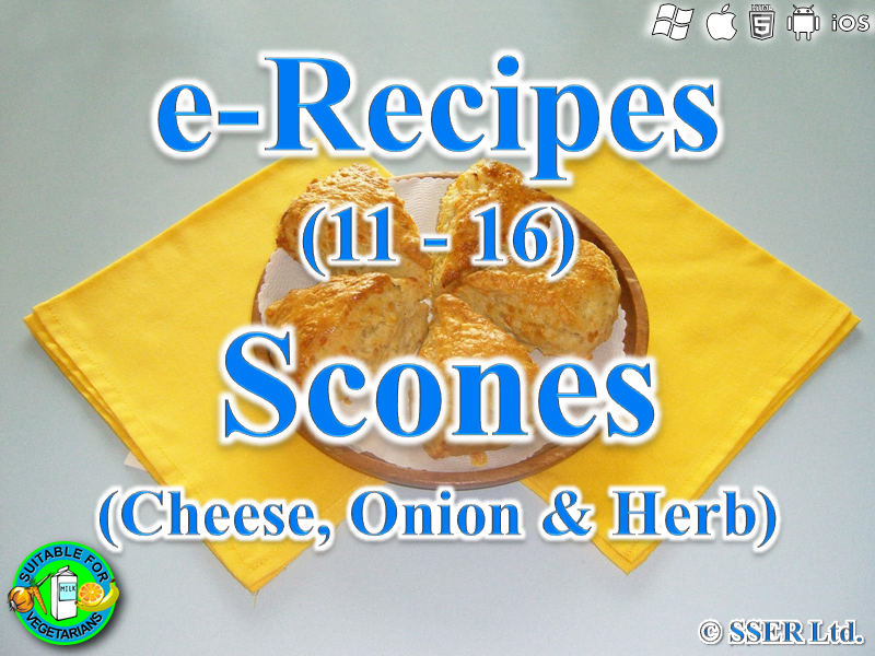 34.   Cheese Onion & Herb Scones (e-Recipe)