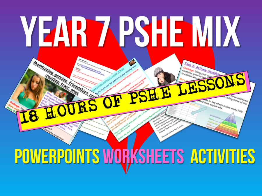 PSHE / PSE 19 Lessons - Year 7