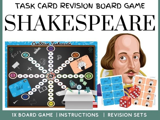 Shakespeare Task Card Board Game
