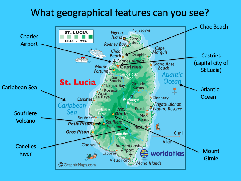 Identifying the and physical features of St Lucia - KS2 on tobago map caribbean, haiti map caribbean, grenada map caribbean, bermuda map caribbean, curacao map caribbean, guadeloupe map caribbean, dominica map caribbean, martinique map caribbean, aruba map caribbean, grand cayman map caribbean, cuba map caribbean, bahamas map caribbean, anguilla map caribbean, usvi map caribbean, honduras map caribbean, montserrat map caribbean, mexico map caribbean, jamaica map caribbean, us virgin islands map caribbean, antigua map caribbean,