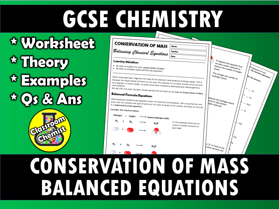 Balanced Equations and Conservation of Mass