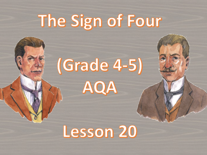 Chapter 12 - Lesson 20 (The Sign of Four)