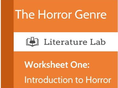 The Horror Genre - An Introduction. Worksheet
