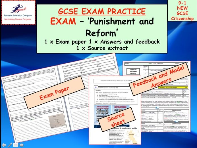 GCSE CITIZENSHIP 9-1 Assessment Exam (Punishment and Reform)