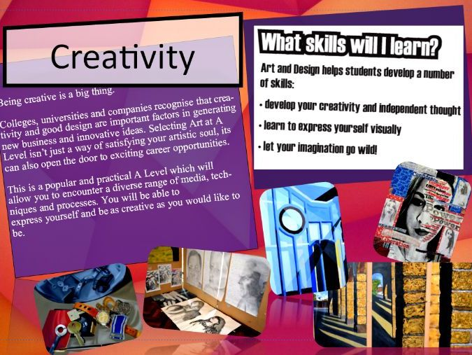 Open Evening Booklet - A Level Edexcel Art and Design