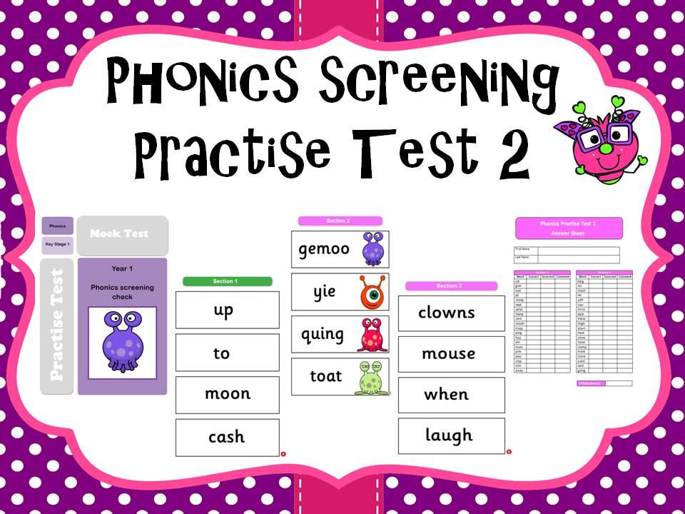 Phonics screening practise test 2